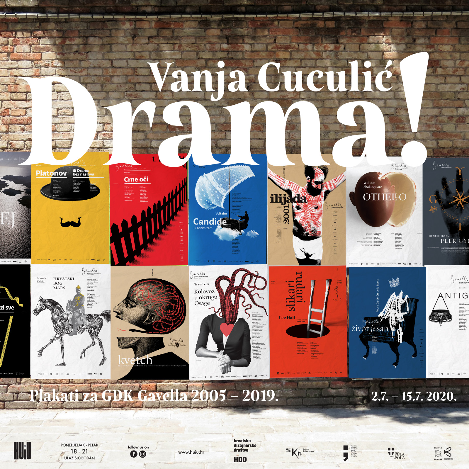 Vanja Cuculić: Drama! Plakati za GDK Gavella 2005 – 2019.